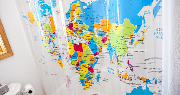 World Map Shower Curtain U2013 Educational And Attractive! * Free!