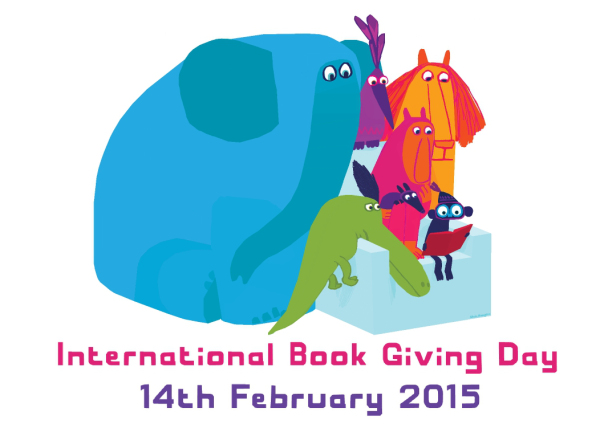 International Book Giving Day 2015 poster  - Chris Haughton
